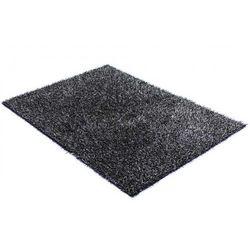 Dywan shaggy SPOONY - czarno-szary - poliester - 140 × 200 cm