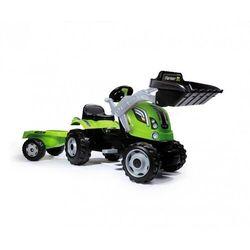 Smoby farmer max zielony traktor na pedały przyczepa ładowarka