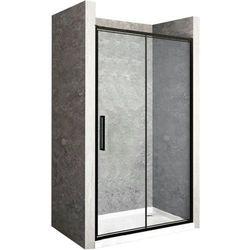 REA Drzwi prysznicowe składane RAPID FOLD, czarne profile 100 cm z powłoką EASY CLEAN