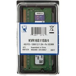 Pamięć RAM KINGSTON 4GB 1600MHz ValueRAM (KVR16S11S8/4)