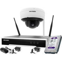 Zestawy monitoringowe, ZM11993 Hikvision Zestaw monitoringu bezprzewodowego 1 kamera WiFi 4MPx 1TB