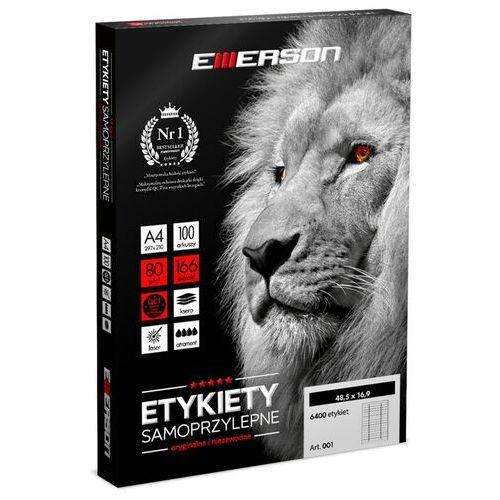 Etykiety biurowe, Etykiety samoprzylepne A4 Emerson, nr 37, wymiary 63 x 38 mm, opakowanie 100 arkuszy po 21 etykiet - Super Ceny - Autoryzowana dystrybucja - Szybka dostawa - Hurt - Wyceny