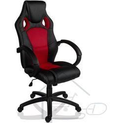 Fotel obrotowy dla gracza, RACEMASTER, czerwony