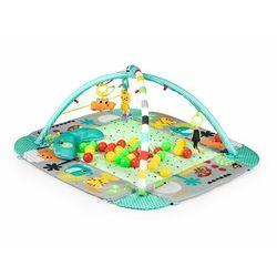 Mata edukacyjna, kojec, suchy basen, 30 piłeczek, 3w1