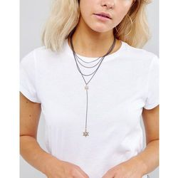 Liars & Lovers Delicate Star Charm Choker & Lariat Layering Set - Gold