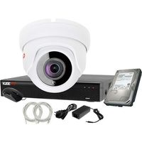 Zestawy monitoringowe, Plug&Play Zestaw do monitoringu IP Rejestrator LV-NVR4415S-4P + 1x Kamera LV-IP2M2DFE + 1TB