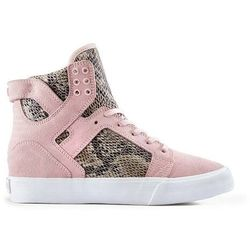 buty SUPRA - Womens Skytop Wedge Pink/Brown-White (PBR) rozmiar: 36.5