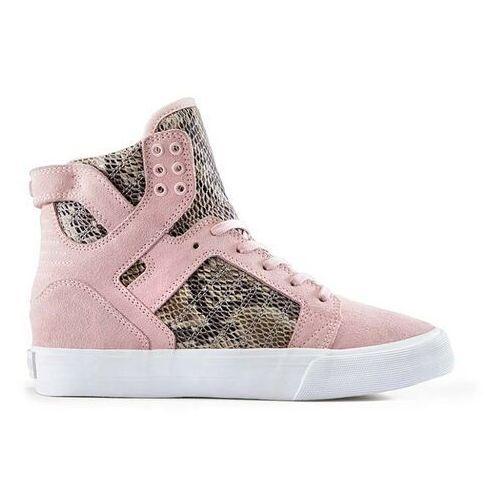 Damskie obuwie sportowe, buty SUPRA - Womens Skytop Wedge Pink/Brown-White (PBR) rozmiar: 40.5