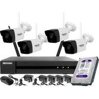 Zestawy monitoringowe, Monitoring zestaw bezprzewodowy Hikvision Hiwatch 4 kamery WiFi Full HD 1080p 1TB