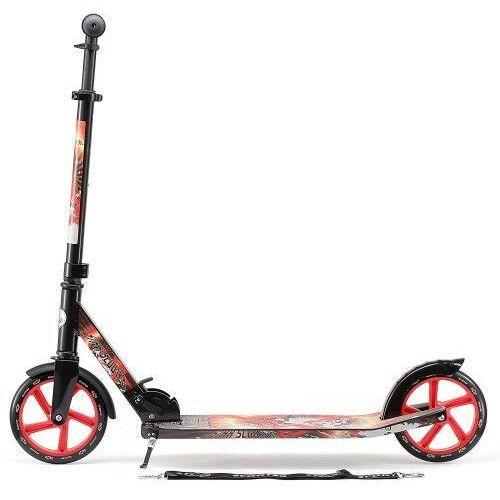 Hulajnogi, Bike Star Składana aluminiowa hulajnoga 205 podest XXL czarno- czerwona