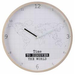 Biały zegar drewniany - Mondi