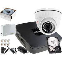 Zestawy monitoringowe, Rejestrator IP BCS BCS-NVR04015ME + 1x Kamera FullHD LV-IP2M2DFWH-II, 1TB, Akcesoria