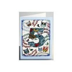 Karnet pm795 wycinany + koperta urodziny 5 sowy