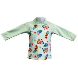 Bluzka kąpielowa koszulka dzieci 108cm filtr UV50+ - Mint Floral \ 108cm