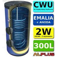 Pozostałe ogrzewanie, Wymiennik LEMET 300L SLIM 2 wężownice 2W +ANODA solarny Bojler Zbiornik Ogrzewacz CWU WYSYŁKA GRATIS