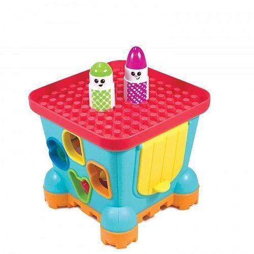 Klocki dla dzieci, B-kids Sorter zamek z klockami