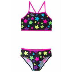 Bikini dziewczęce (2 części) bonprix czarny z nadrukiem