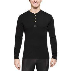Aclima Warmwool Bielizna z wełny merynosów Mężczyźni czarny L Koszulki bazowe z długim rękawem