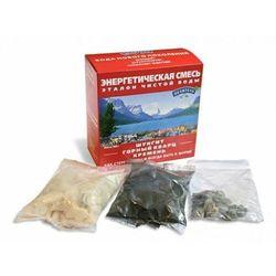 Energetyczna mieszanka - szungit, czarny krzemień, kwarc górski - 380 gram
