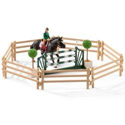 Szkoła jeździecka z jeźdzcami i końmi - Schleich