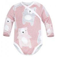 Body niemowlęce, Body kopertowe niemowlęce z długim rękawem Pudrowe Koala - Dolce Sonno