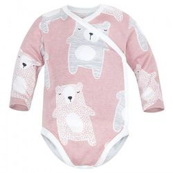 Body kopertowe niemowlęce z długim rękawem Pudrowe Koala - Dolce Sonno