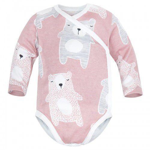 Body niemowlęce, Niemowlęce body KOPERTOWE długi rękaw Pudrowe - Koala