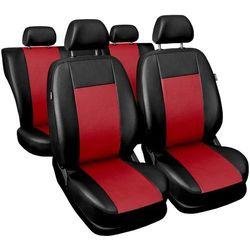 Skórzane pokrowce samochodowe Comfort czerwone