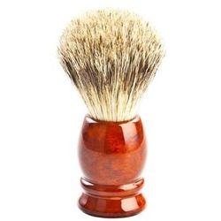 Pędzel do golenia z włosia borsuka, błyszcząca metalowa srebrna rączka 1.0 pieces