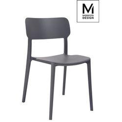 MODESTO krzesło AGAT grafitowe - polipropylen