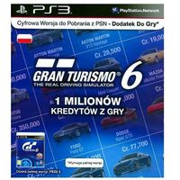 Kody i karty przedpłacone, Karta SONY Gran Turismo 6 - 1 milion kredytów