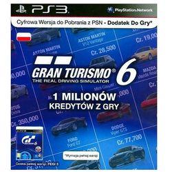 Karta SONY Gran Turismo 6 - 1 milion kredytów