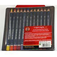 Kredki, Kredki Triocolor 12 kolorów kasetka metalowa