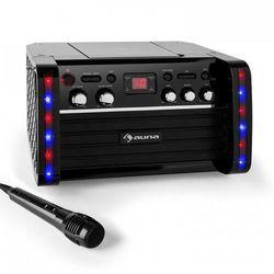 Auna Zestaw karaoke Disco Fever Odtwarzacz CD-/CD+G uchwyt na tablet
