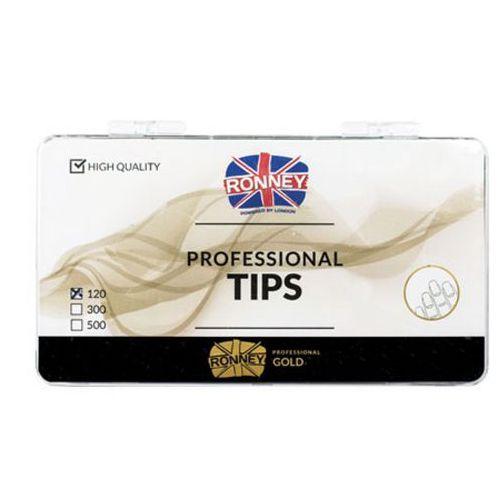 Tipsy, Ronney PROFESSIONAL TIPS FRENCH TRANSPARENT Tipsy french z małą kieszonką, bezbarwne (120 szt.)