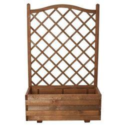 Donica drewniana Verve 90 cm z kratką 140 cm