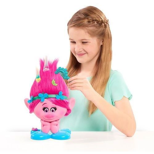 Głowy do stylizacji dla dziewczynek, Trolle Poppy głowa do stylizacji 3Y33F5