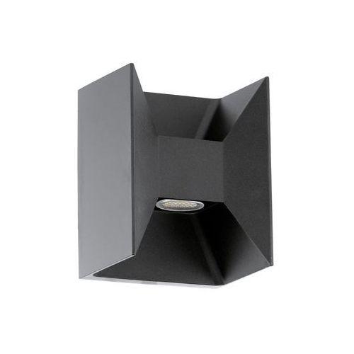 Lampy ścienne, Kinkiet zewnętrzny Eglo Morino 93319 lampa ścienna 2x2,5W LED IP44 antracyt