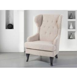 Fotel beżowy - tapicerowany - pikowany - do salonu - ALTA