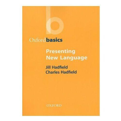 Książki do nauki języka, Oxford basics presenting new language (opr. miękka)