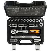 Zestawy narzędzi ręcznych, Zestaw kluczy nasadowych NEO 10 - 24 mm 1/2 cala 08-661 (20 elementów)