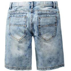 "Bermudy dżinsowe Loose Fit bonprix niebieski ""medium bleached used"