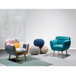 Fotel morski - fotel wypoczynkowy - do salonu - tapicerowany - MELBY