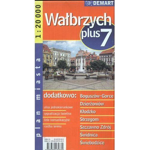 Mapy i atlasy turystyczne, Wałbrzych plus 7 mapa 1:20 000 Demart (opr. miękka)