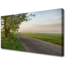 Obraz na Płótnie Droga Drzewo Trawa Krajobraz