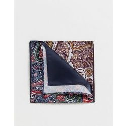ASOS DESIGN 4 way pocket square in burgundy paisley - Multi