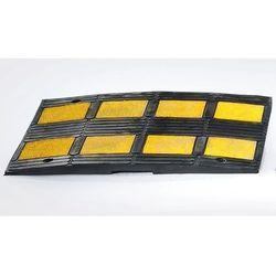 Próg przejazdowy z kauczuku, żółty / czarny, do prędkości maks. 10 km/h. Z kaucz