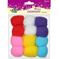 Pozostałe artykuły szkolne, Pompony TITANUM poliestrowe mix kolor op.12 282926