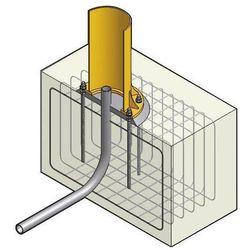 System kotwowy, Ø płyty 1050 mm, do żurawia obrotowego PS 270, nośność 500 kg, d