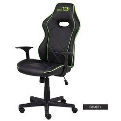 SELSEY Fotel gamingowy Monver czarno - zielony